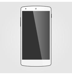 Modern white touchscreen cellphone tablet vector