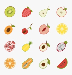 Fruit icons with white background  eps10 vector