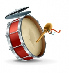 Bass drum instrument vector