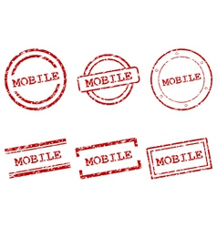 Mobile stamps vector