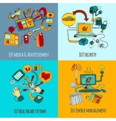 Internet of things concept set vector