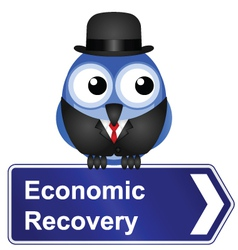 Economic recovery sign vector