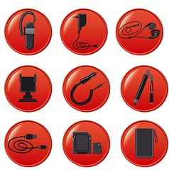 Mobile devices accsessories vector