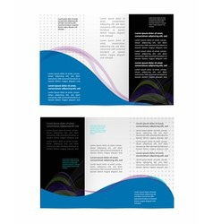 Brochure folder leaflet geometric abstract element vector