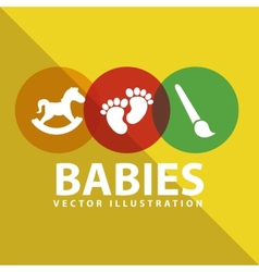 Babies toys vector