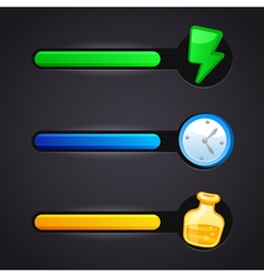 Game icons and resource bar set vector