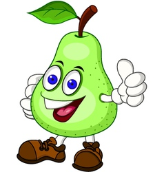 Pear cartoon character vector