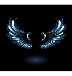 Glowing angel wings vector