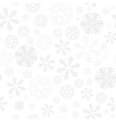 Snowflake christmas and new year seamless pattern vector
