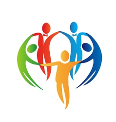 Diversity teamwork logo vector