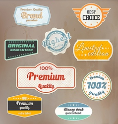 Retro label colection vector