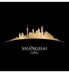 Shanghai china city skyline silhouette vector