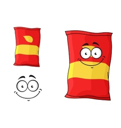 Packet of chips or crisps vector