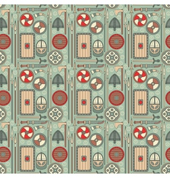 Seamless viking pattern 01 vector