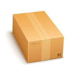 Cardboard packing box closed vector