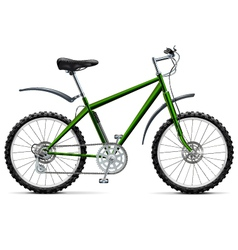 Mountain bicycle vector