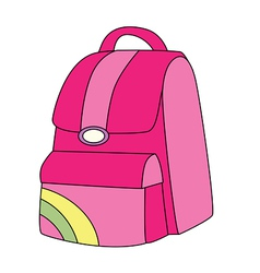 Backpack pink vector