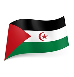 State flag of sahrawi arab democratic republic vector