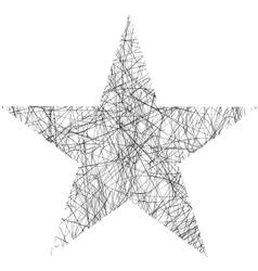 Star scribble vector