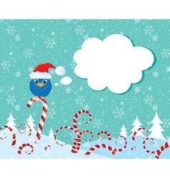 Christmass candy bird vector