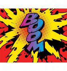Comic boom vector