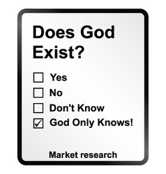 Market research god sign vector