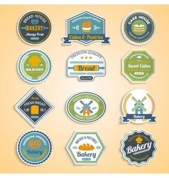 Bakery stickers set vector