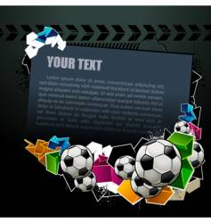 Football graffiti banner vector