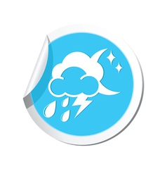 Weather forecast icon vector