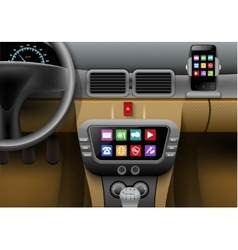 Car multimedia system vector