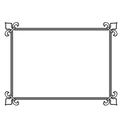 Royal lily frame vector