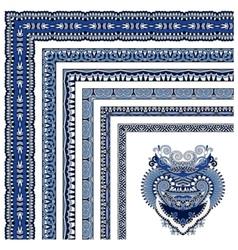 Floral vintage frame design all components are vector
