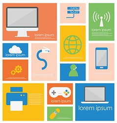 Icon computer networking device vector