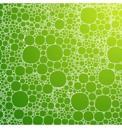 Seamless background foam bubbles white on green vector