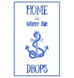 Nautical quote poster vector