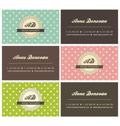Retro business cards vector