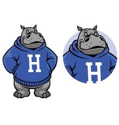 Hippo mascot vector