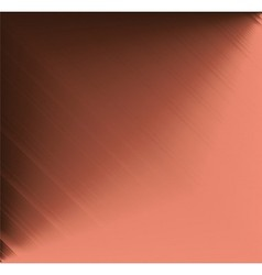 Brushed copper metallic plate vector