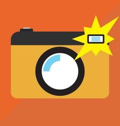 Camera on shot vector
