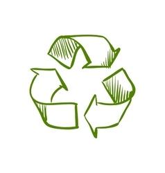 Doodle recycle symbol vector