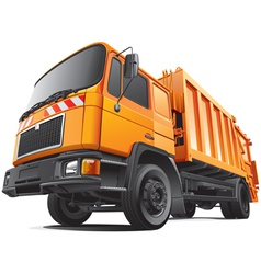 Compact garbage truck vector