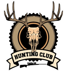 Hunting club design vector