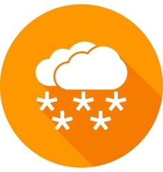 Heavy snowing vector
