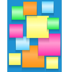 Sticky squares of different colors vector