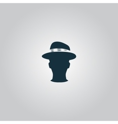 Man head with hat vector