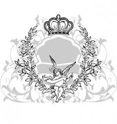 Crowned cupid vector