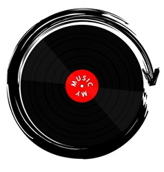 Vinyl record-lp vector