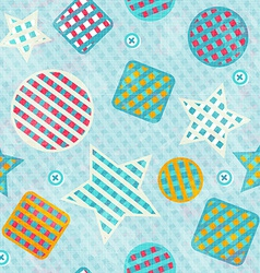 Fabric figures seamless pattern vector