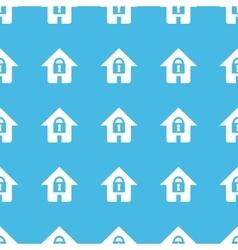 Locked house straight pattern vector