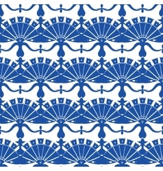 Royal blue turskish floral abstract vector